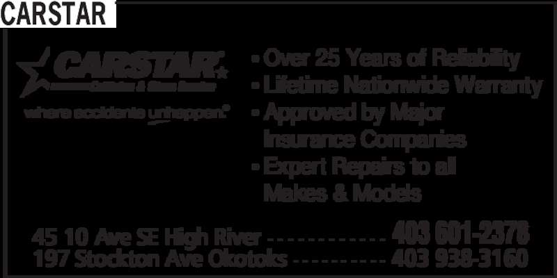 Wrinkles Auto Body Inc (403-601-2378) - Display Ad - CARSTAR • Over 25 Years of Reliability • Lifetime Nationwide Warranty • Approved by Major   Insurance Companies • Expert Repairs to all   Makes & Models 45 10 Ave SE High River - - - - - - - - - - - - 403 601-2378 197 Stockton Ave Okotoks - - - - - - - - - - 403 938-3160