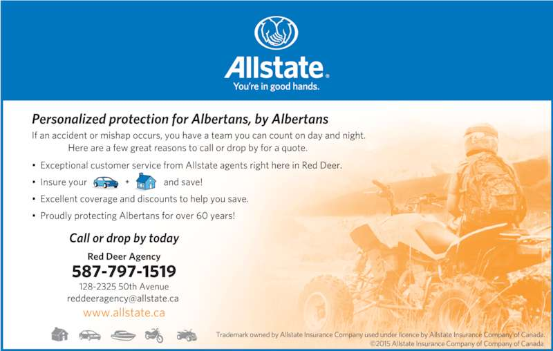 Allstate Insurance Company of Canada (403-342-7770) - Display Ad -
