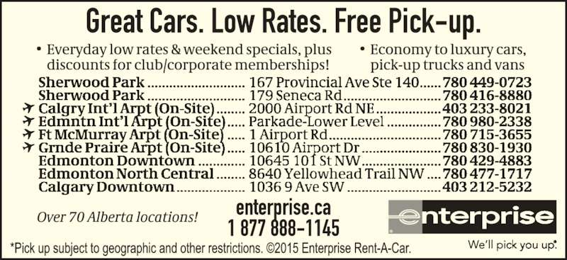 Enterprise Car And Truck Rental Mississauga