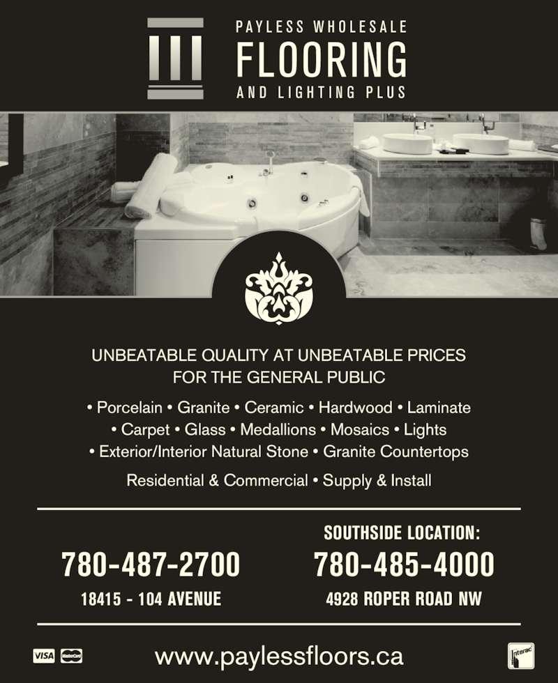 Wholesale Hardwood Flooring Edmonton: Payless Wholesale Flooring & Lighting Plus Inc