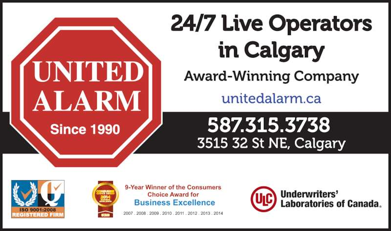 United Alarm Systems Calgary Ab 3515 32 Street Ne