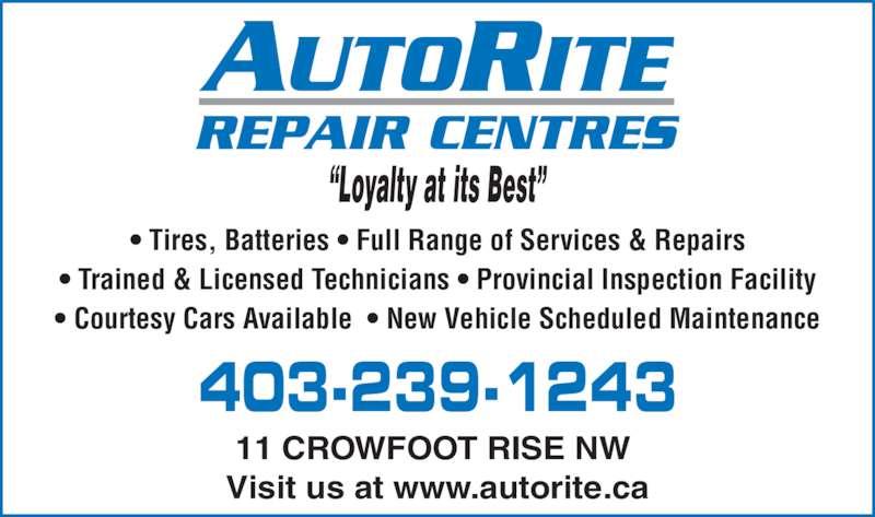 Autorite Repair Centres - Auto Repair - 11 Crowfoot Rise ...