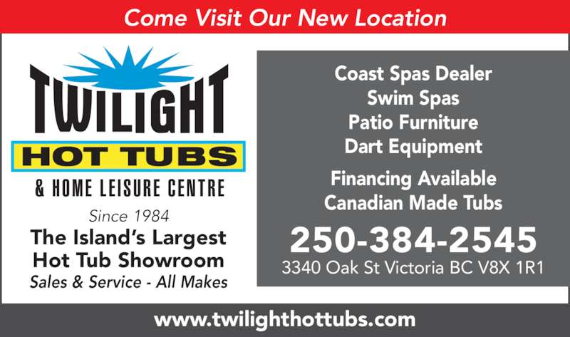 Twilight Hot Tubs Home Leisure Centre Opening Hours 3340 Oak St Victoria