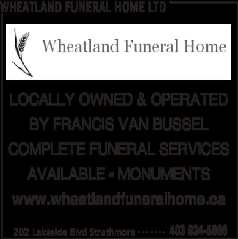 Wheatland Funeral Home Strathmore Alberta
