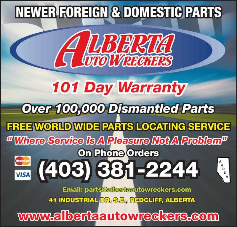 Ads Alberta Auto Wreckers