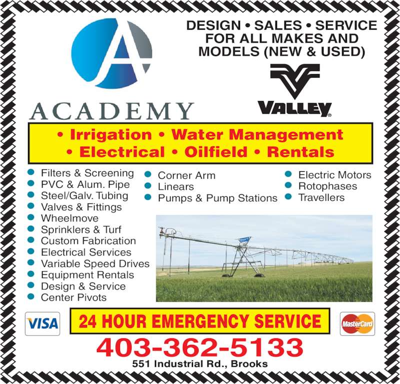 Academy Services 551 Industrial Rd Brooks Ab