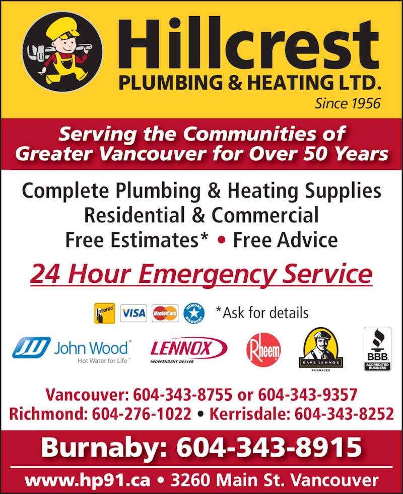 Hillcrest Plumbing Amp Heating Burnaby Branch Canpages