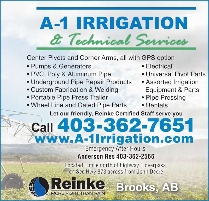 A 1 Irrigation Amp Technical Services Opening Hours 1