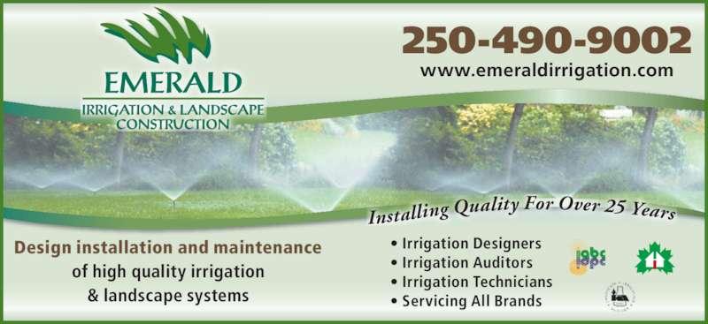 Emerald Irrigation Amp Landscaping Penticton Bc 840