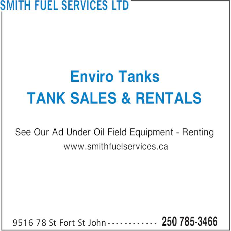 smith fuel services ltd   9516 78 st fort st john bc