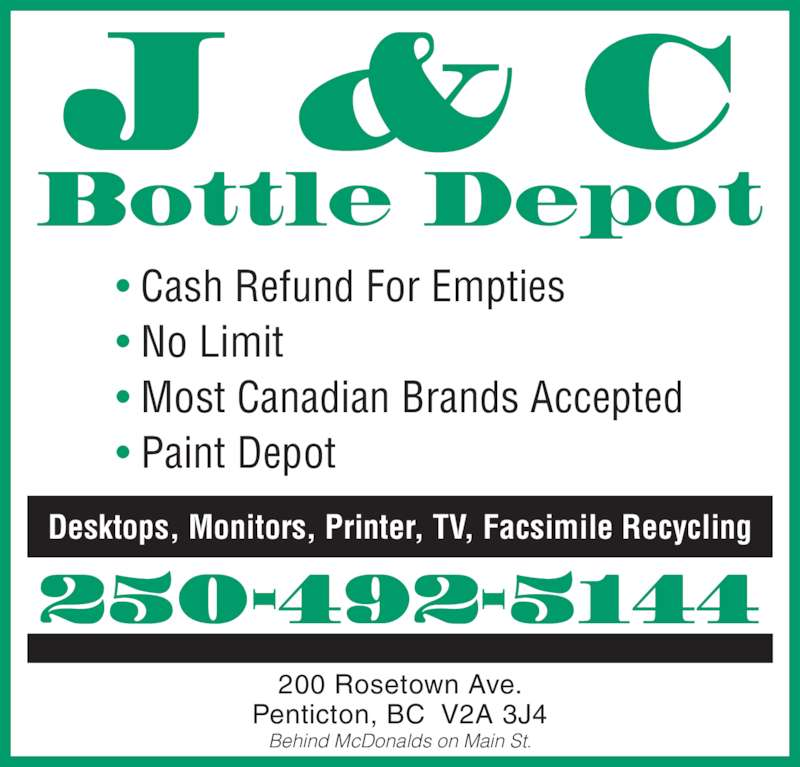 Ads J&C Bottle Depot