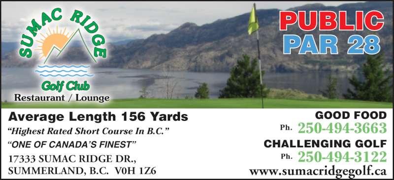 Ads Sumac Ridge Golf & Country Club Ltd