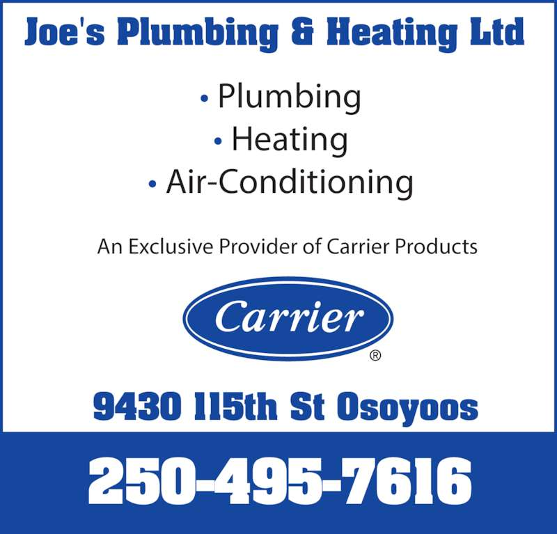 Joe S Plumbing Osoyoos Bc 9430 115th Street Canpages