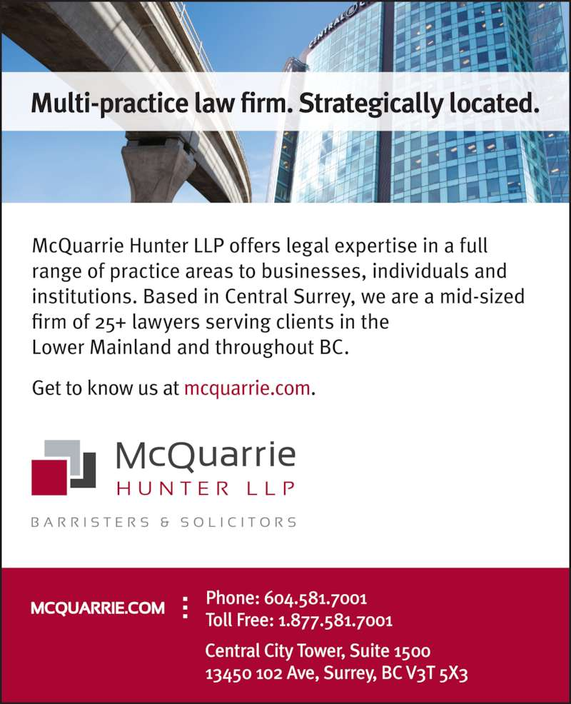 McQuarrie Hunter LLP (6045817001) - Display Ad -