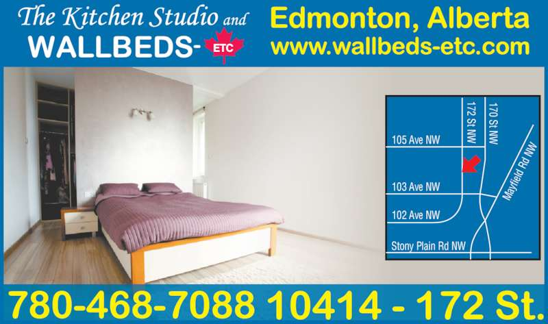 The Kitchen Studio Wallbeds Etc Opening Hours 10414 172nd Street Nw Edmonton Ab