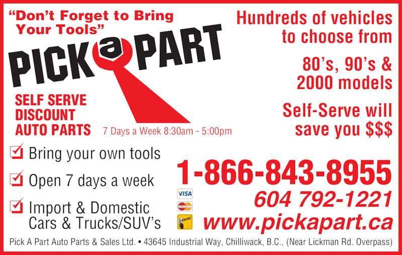 Used Car Parts Chilliwack Bc