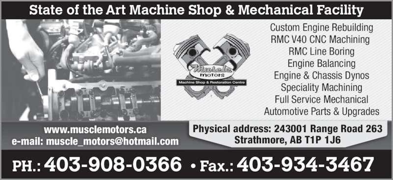 Muscle Motors Ltd 1020b Westridge Rd Strathmore Ab