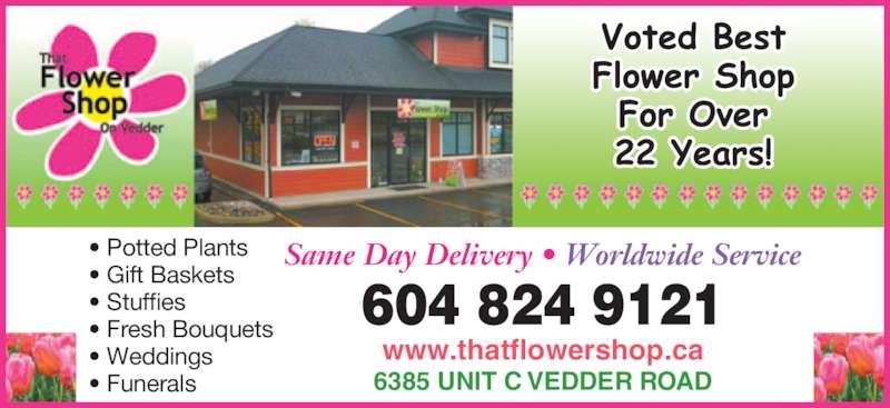 Bj That Flower Shop On Vedder Chilliwack Bc C 6385
