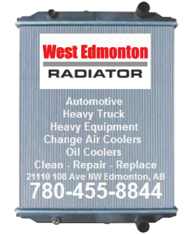 West Edmonton Radiator (780-455-8844) - Display Ad -