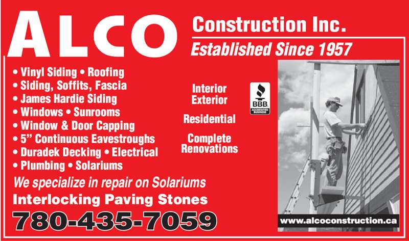 Alco Construction Inc Edmonton Ab 14303 58 Ave Nw