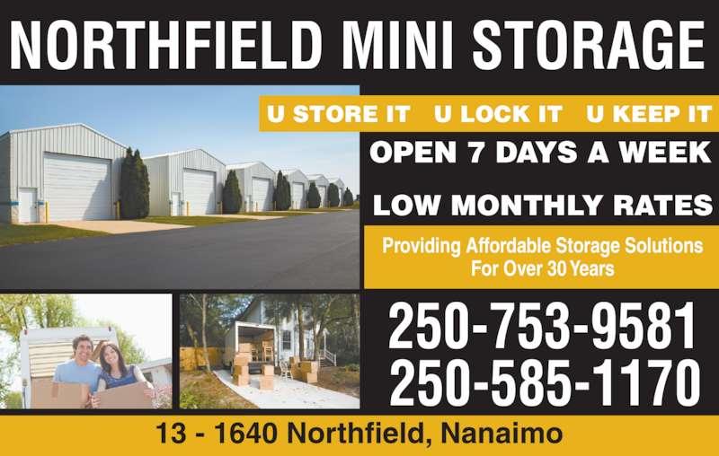 northfield mini storage opening hours 1640 northfield rd nanaimo bc. Black Bedroom Furniture Sets. Home Design Ideas