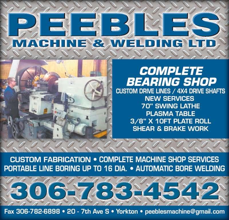 machine shop welding