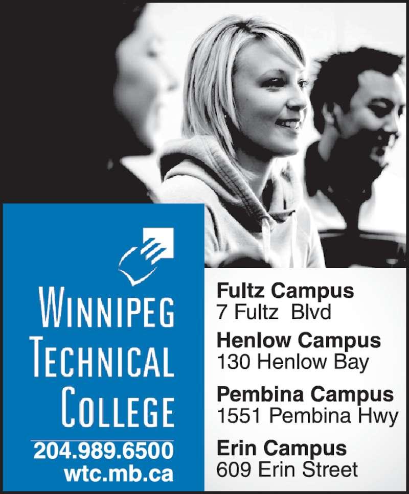 Winnipeg Technical College (204-989-6500) - Display Ad -