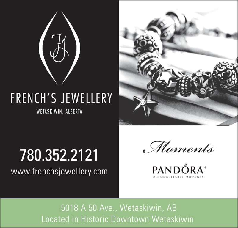 French's Jewellery (780-352-2121) - Display Ad - Located in Historic Downtown Wetaskiwin  780.352.2121 www.frenchsjewellery.com 5018 A 50 Ave., Wetaskiwin, AB