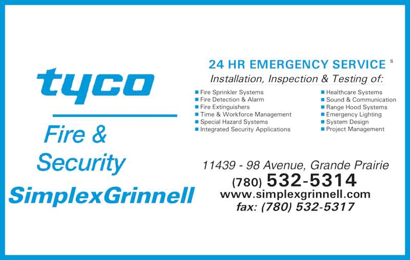 Tyco Integrated Fire Amp Security Grande Prairie Ab