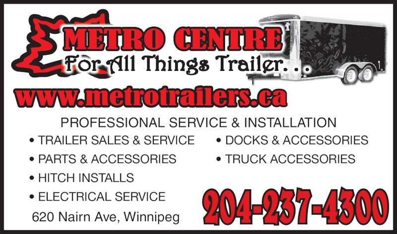Metro Centre Ltd Winnipeg Mb 620 Nairn Ave Canpages