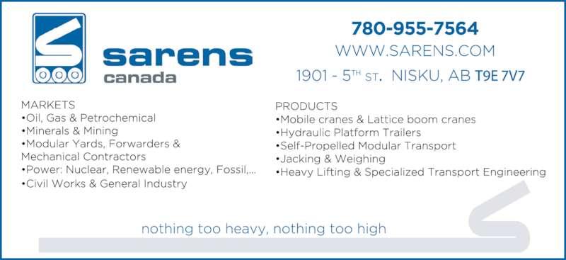 Nisku (AB) Canada  city photos : Canada Crane Services Inc Leduc, AB 6019 35th St | Canpages