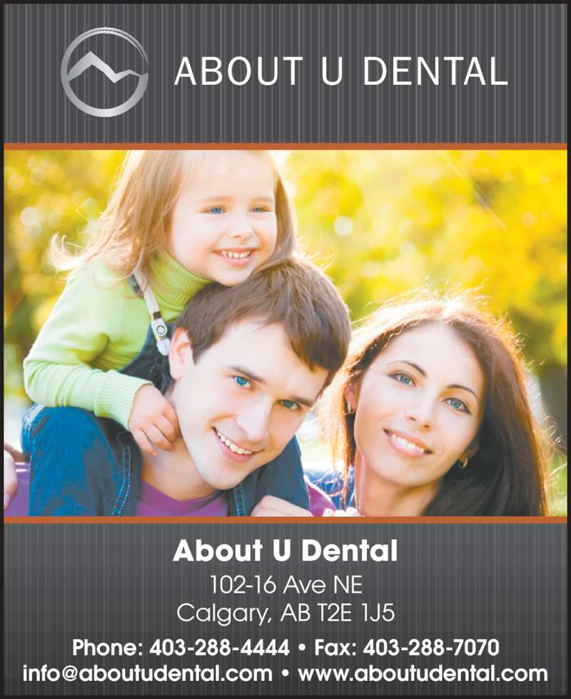 About u dental calgary ab 102 16 ave ne canpages for About u salon calgary