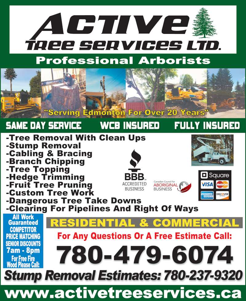 Active Tree Services (780-479-6074) - Display Ad -