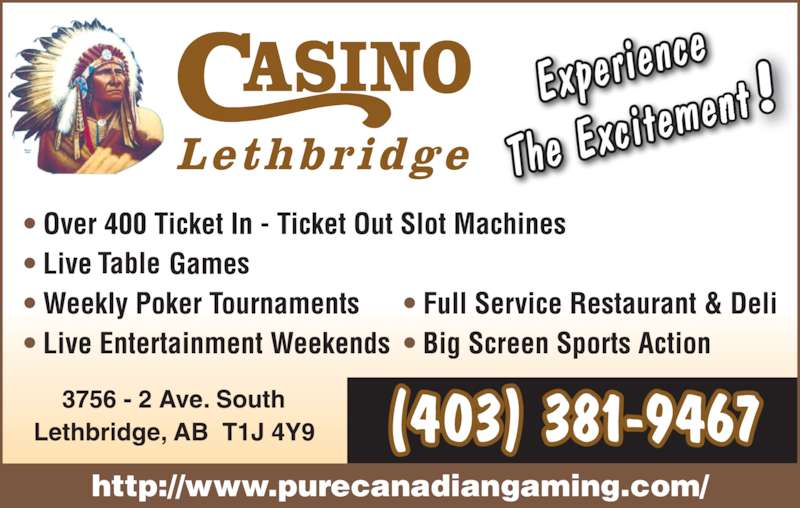 Casino Lethbridge Menu