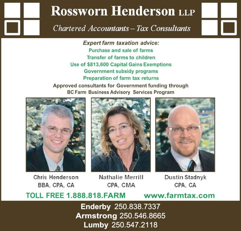 Rossworn Henderson LLP (250-546-8665) - Display Ad -