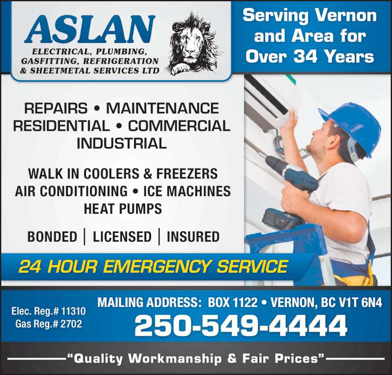Aslan Electrical Plumbing Gasfitting Refrigeration
