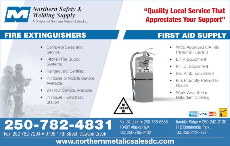 Safety & Welding Supply (250-782-4831) - Display Ad - Northern Safety ...