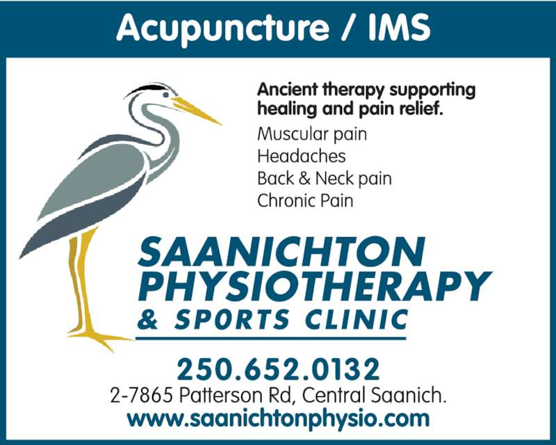 Saanichton Physiotherapy (250-652-0132) - Display Ad -