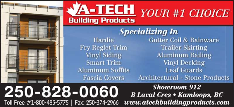 A Tech Building Products 912b Laval Cres Kamloops Bc