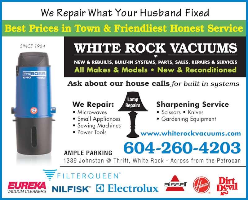 White Rock Vacuum Amp Sewing Opening Hours 1389 Johnston