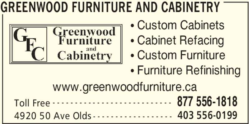 Greenwood Furniture amp Cabinetry Olds AB 4920 50 Ave