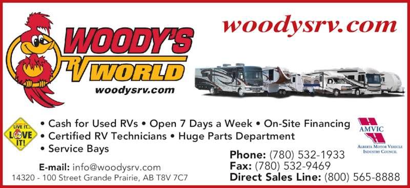 Woody S Rv World Grande Prairie Ab 14320 100 Street