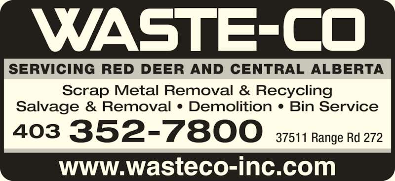 Waste Co Disposal Systems Red Deer County Ab 235