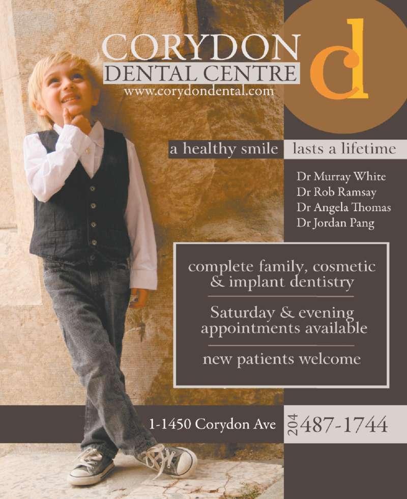 Corydon Dental Centre (204-487-1744) - Display Ad - 20