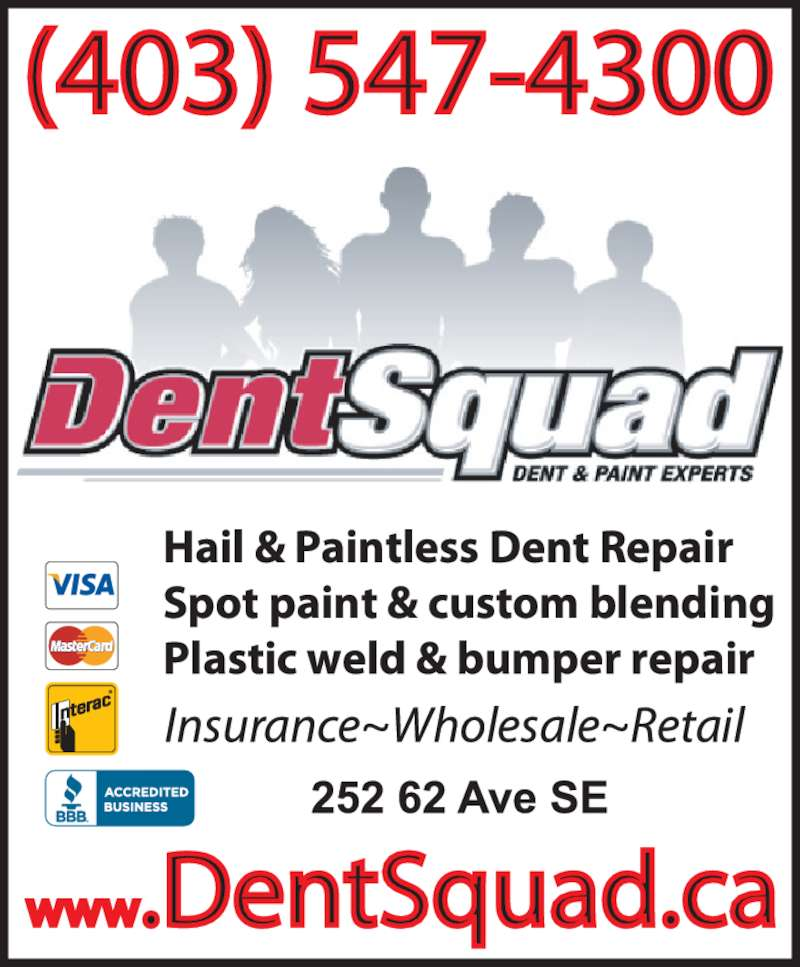 Dent Squad Ltd (403-547-4300) - Display Ad -