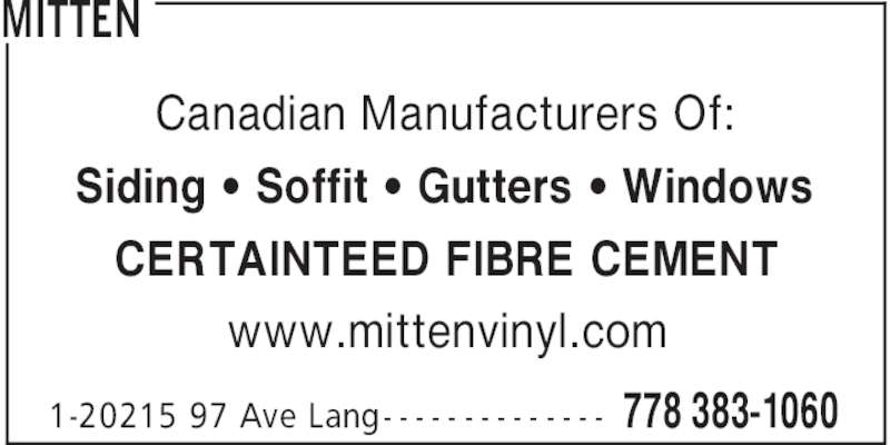 Mitten Opening Hours 1 20215 97th Avenue Langley Bc