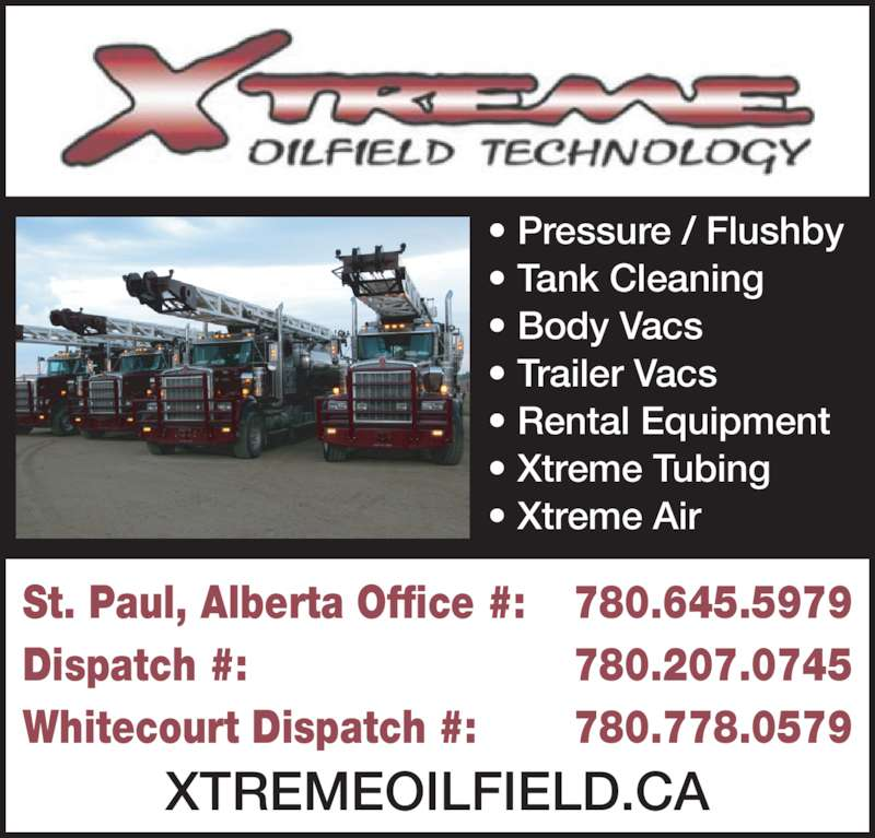 Oilfield Cleaning Services : Xtreme oilfield technology  ave st paul ab