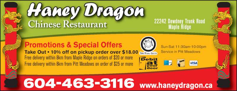 Chinese Food In Pitt Meadows Or Maple Ridge