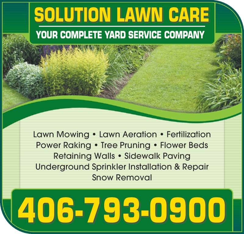 Solution lawn care for Local lawn mowing services