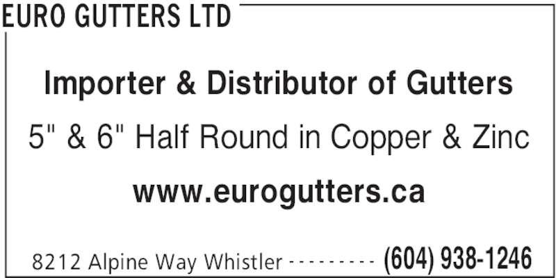 Euro Gutters Ltd Supplier Of 1 2 Round Copper Amp Zinc